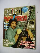 HM - RIVISTA METAL - #31 - BLACK SABBATH - RUSH - WARLOCK - RATT - TESTAMENT