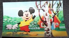 RARE VINTAGE DISNEY MICKEY MOUSE LENTICULAR 3D POST CARD