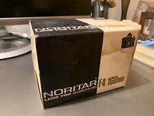 Norita Kogaku Japan Noritar F 160mm Lens 1:4 Camera Lens