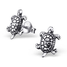 925 Sterling Silver Turtle Stud Earrings Kids Girls Women Jewellery Gift