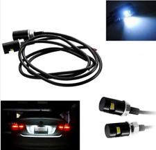 12V  6000K White LED License Plate Light Screw Bolt Lamp/Bulb+Harness Black