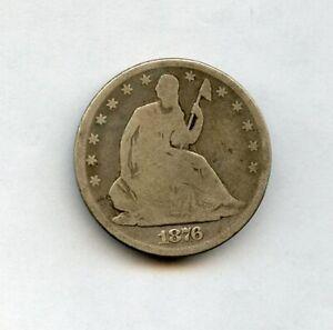 1876-CC 50c Seated Liberty Half Dollar