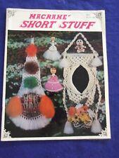 "Vintage 1984 "" Macrame Short Stuff"" 20 Project Patterns Full Instructions"