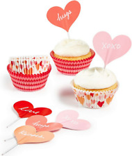 Martha Stewart Collection Heart Cupcake Liners & Toppers - New in Box