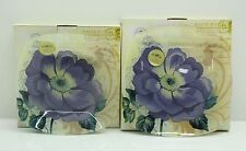 Set of 2 Collectable Camelia Plates by Leonardo Collection