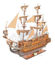 "San Felipe Spanish Armada Galleon Tall Ship 88"" Xx Large Wooden Model Assembled"