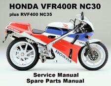 HONDA VFR400R VFR RVF 400 Owners Service Workshop Repair Parts Manual PDF on CDR