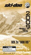 Ski-Doo owners manual book 2009 MX ZX 600 RS