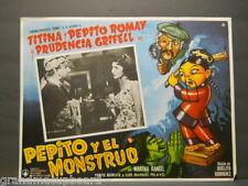 Pepito Y El Monstruo 1957 Spanish Lobby Card Titina Pepe Romay Prudencia Grifell