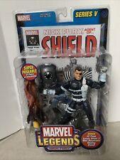 2003 Toy Biz Marvel Legends Series V (5) Nick Fury Shield NIP w/ Comic & Base