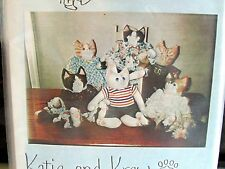 Craft Pattern by Meoworks Katie & Krew hp painted cat face stuffed doll 16""
