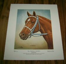 SECRETARIAT 4 Lithographs Plates I-IV 1973 by J V Martin 1974 TRIPLE CROWN RARE