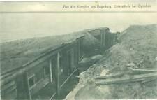 Ogonken, 1. Weltkrieg, Unterstände, Feldpost, 1915