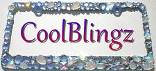 Chunky Mix AB Clear Crystal Rhinestone License Plate Frame Bling Diamond Sparkle