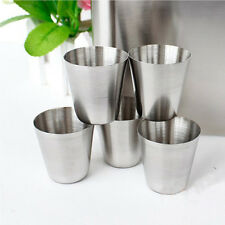 Stainless Steel Mini Travel Camping Whisky Wine Flask Kit Tumbler Cups 30ml 1oz