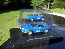 ELIGOR 1/43 RENAULT ALPINE A 110 1963 N°22 Rallye de l'AGACI !!