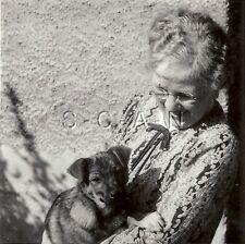 Vintage Large Real Photo- Animal- Dog- Pet- German Shepherd- Puppy- Grandma- 30s