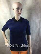 ZARA STRIPED SHORT SLEEVED KNITTED TOP SIZE LARGE (B7) REF: 3090 240