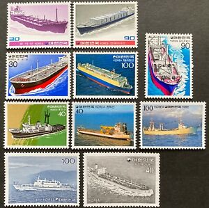 South Korea 1981 Complete series of SHIP, 5 Issues x 2,  10 stamps