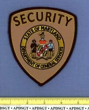 MARYLAND DEPT of GENERAL SERVICES STATE CAPITOL BUILDING SECURITY Police Patch