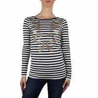 LiuJo Fashion Maglia tg.S Donna Col. Nero rigata  Occasione -53%  