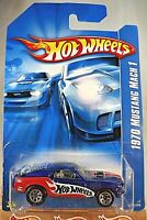 2006 Hot Wheels Collector No #125 '70 FORD MUSTANG MACH 1 Blue Variant w/7 Spoke