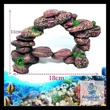 AQUARIUM FISH TANK STONES DECORATION 18CM ORNAMENT AQUA MARINE FRESH WATER