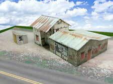 N Scale Buildings Kit - Abandoned Homestead / Depot - Coverstock Paper Kit #2