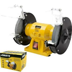 "Jobsite 150W Twin Bench Grinding Polisher Workshop Garage Stone Grinder 6"""