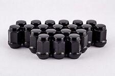 Set 20 12mm x 1.5 Black Solid Acorn Bulge Lug Nuts fits Chevy GM Cars W1015HB