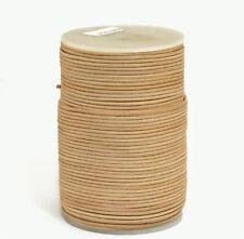 100m Lederband 1,5mm (0,33 €/1m) Farbe: natur 100 Meter auf Rolle/Spule