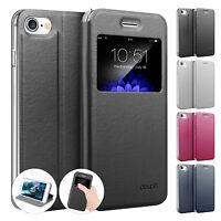 Flip Case iPhone 8 / 7 / Plus Etui Magnet Cover Aufstellbar Ständer Hülle Folie