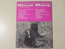 BLUES HARP INSTRUCTION - ORIGINAL & MINT '60s SHEET MUSIC BOOK- 70 PAGES