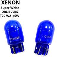 2x DRL T20 7443 580 W21/5W Dual Filament Bulbs Pair WHITE Daytime Running Lights