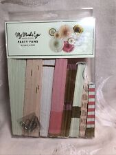 Party Fans Double-Sided ~ Set Of 8