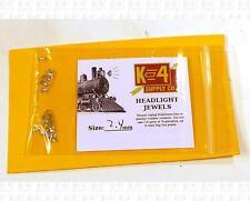 K4 HO Parts 2.4 Mm 0.09 Inch Marker Lamp Headlight Crystal Clear Jewel Lenses