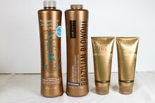Brazilian Blowout Zero 34oz, Anti Residue Shampoo 34oz, Masque 8oz & Serum 8oz