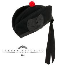 Neu Tartan Republic Schottisch Piper Schwarz Glengarry Militär Hut - Größe