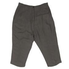 RUNDHOLZ Germany Lagenlook Linen Blend Capri Pants Gray Womens Small 31W - 119