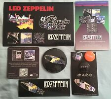 Led Zeppelin lot of 6 promo items RSD stickers, 4 pins, postcard, coaster