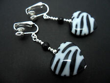 Heart Drop/Dangle Clip - On Costume Earrings