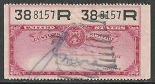 us revenue customs service stamp - red #2
