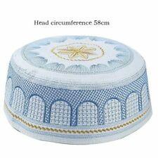 2020 muslim hats Cotton Embroidery Arab Men Prayer Hat Musliman Turban Man Hijab
