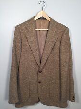 Vintage Yves Saint Laurent Tweed Sport Coat Blazer 40R VTG YSL Jacket Brown GUC