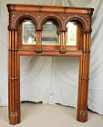Antique Oak Firplace Mantel – very unique design highly carved