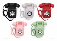 More details for retro wall phone 746 push button vintage style corded telephone wall mounted