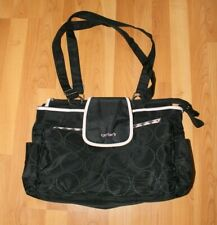 Carter's Light Pink & Black Tote Diaper Bag with 7 Storage Pockets Changing Pad