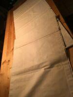 56 U / Sehr großes Überschlag-Leinen-Laken mit Noppen+Biesen, als Bettüberwurf