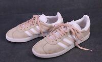 SB474 Adidas Gazelle Damen Sneaker Gr. 38 Leder Suede rosa weiß Sportschuhe