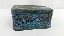 Vintage Edgeworth Sliced Pipe Tobacco Tin Can Empty Container Collectible